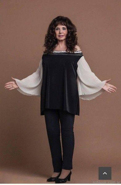 blusa de mangas largas oxford Loren talles grandes otoño invierno 2017