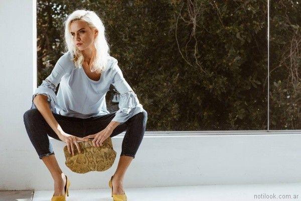 blusa mangas amplias Paula Liarte verano 2018
