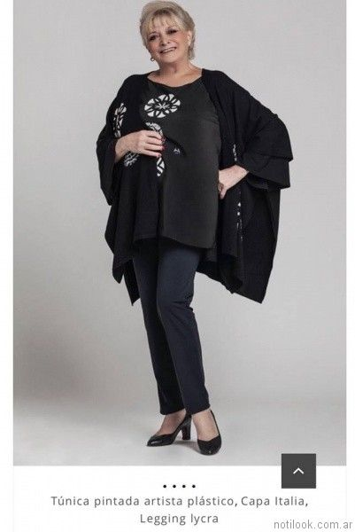 blusas de seda negra Loren talles grandes otoño invierno 2017