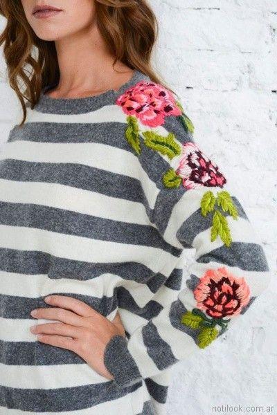 buzo de lana bordado Doll Store invierno 2017
