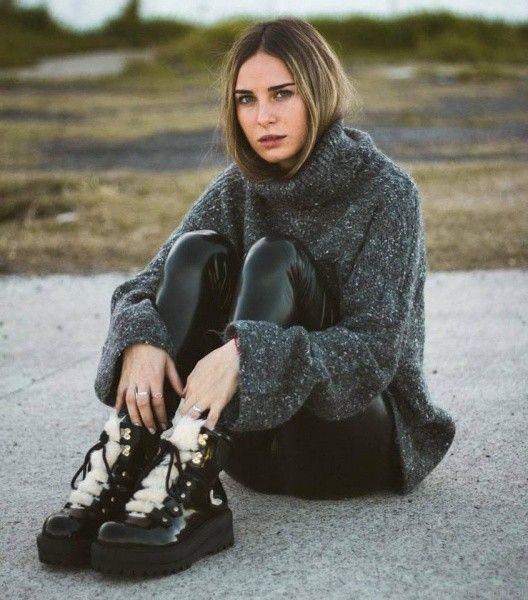 calza acharolada Velvet otoño invierno 2017