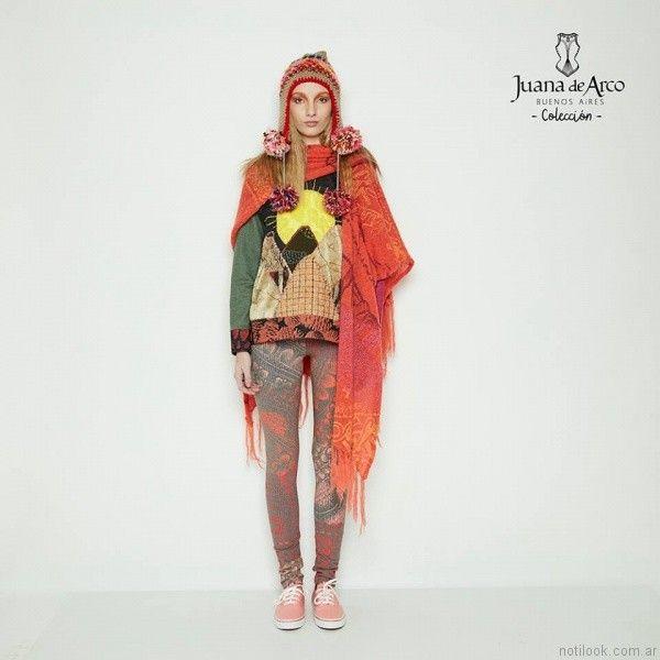 calzas estampadas Juana de arco invierno 2017