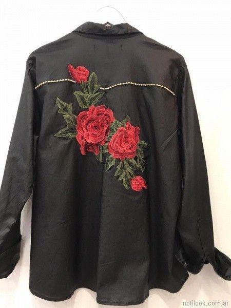 camisa LOREN talles grandes verano 2018