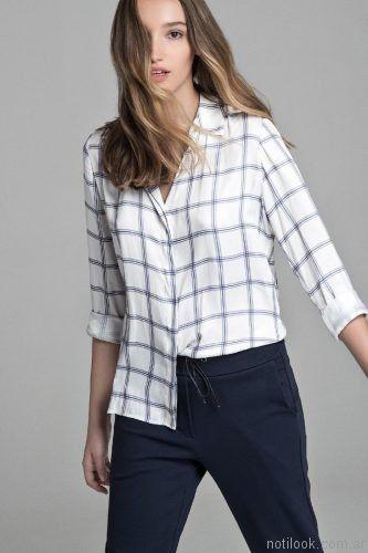 camisa a cuadros Giesso mujer otoño invierno 2017