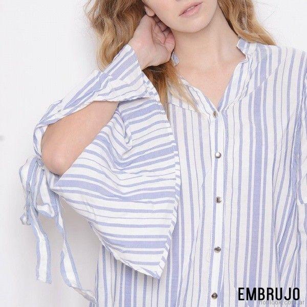 camisa mangas amplias embrujo jeans verano 2018