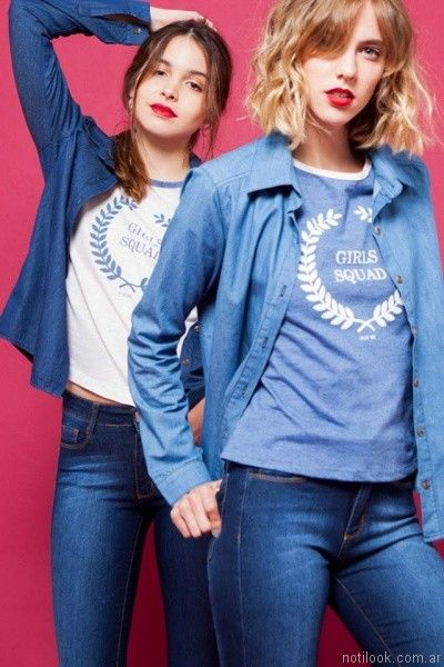 camisas de jeans mujer For me Jeans otoño invierno 2017