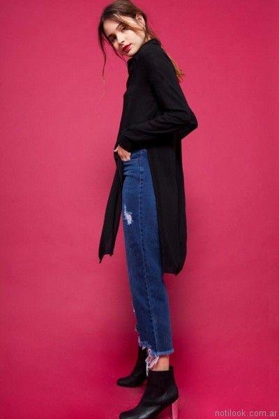 camisas largas mujer For me Jeans otoño invierno 2017