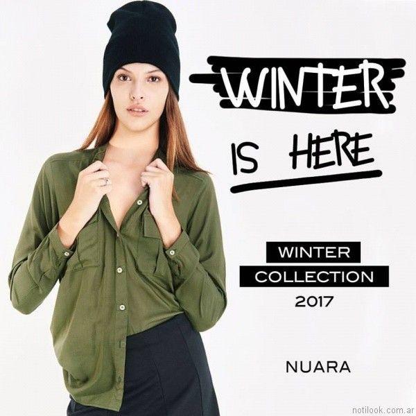 camisas lisas mujer Nuara otoño invierno 2017