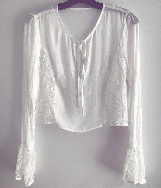 camisola blanca verano 2018 Roberta Basics