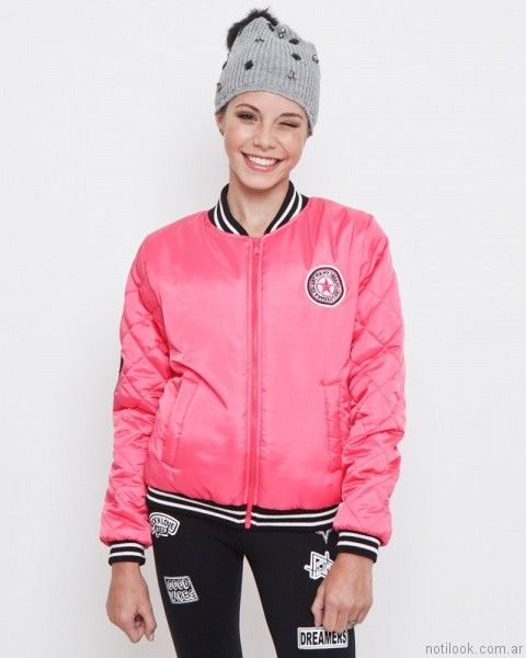campera bomber abrigada teenager Combustion Love otoño invierno 2017