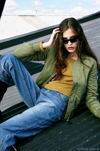 campera de gabardina mujer For me Jeans otoño invierno 2017