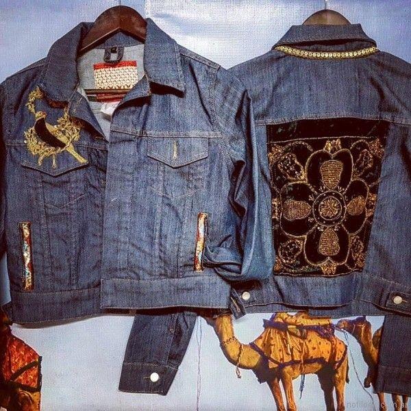campera de jeans bordada Maria Bizet verano 2018
