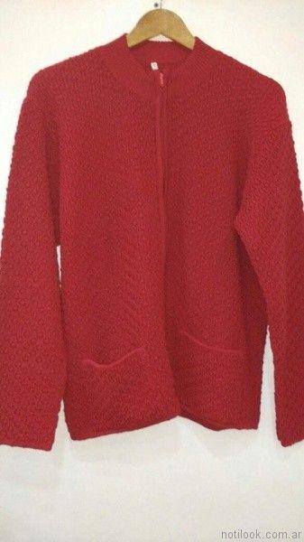campera roja tejida Loren talles grandes otoño invierno 2017