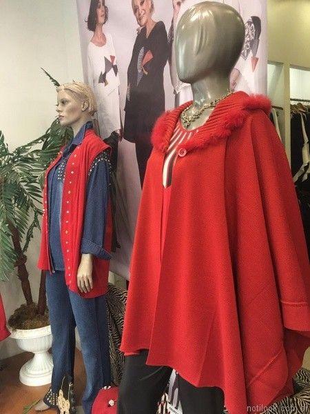 capa roja Loren talles grandes otoño invierno 2017