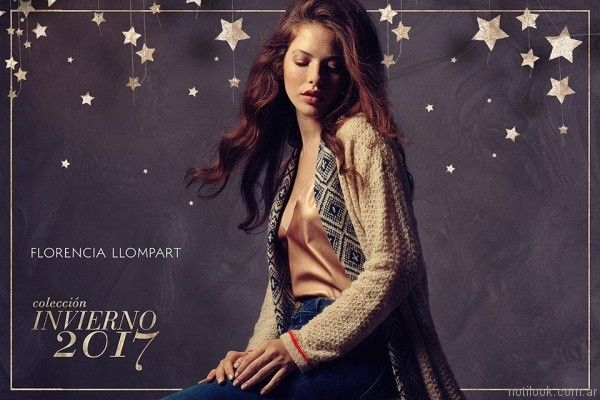 cardigan largo tejido FLORENCIA LLOMPART tejidos mujer Invierno 2017