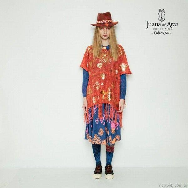 chaleco estilo poncho Juana de arco invierno 2017