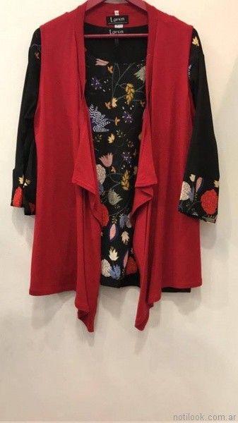 chaleco rojo liviano Loren talles grandes otoño invierno 2017