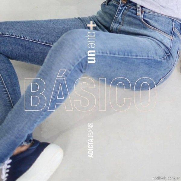jeans basicos tiro alto Adicta jeans invierno 2017