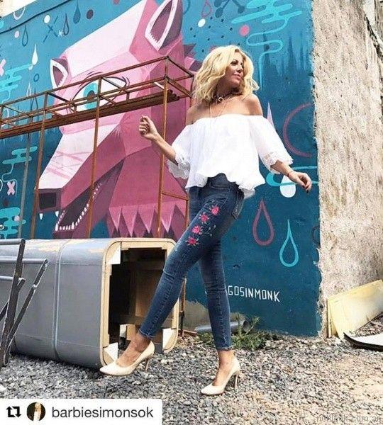 jeans bordados en hilos Adicta jeans invierno 2017