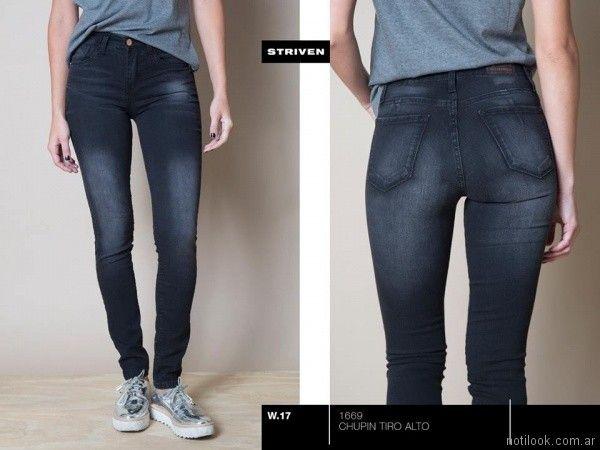 jeans gastados negro Striven Jeans invierno 2017