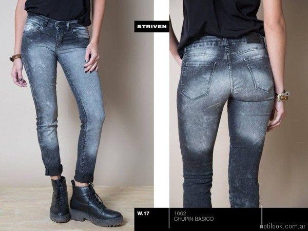 jeans gris gastado Striven Jeans invierno 2017