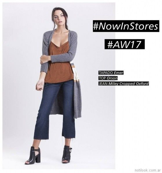 jeans pant cort Swa mi invierno 2017