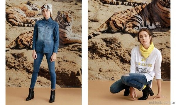 look total denim juvenil Rie invierno 2017