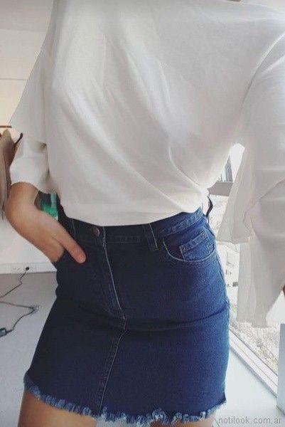 minifalda jeans desvio jeans primavera verano 2018