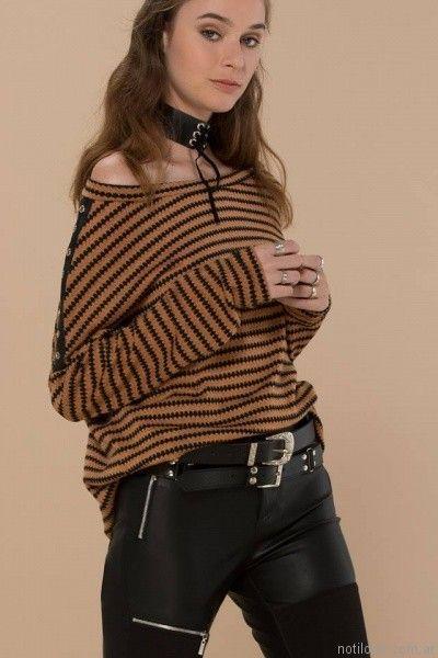 pantalon de cuero mujer inversa otoño invierno 2017