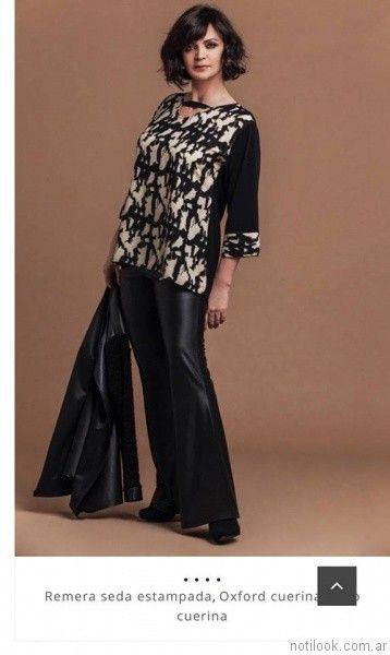 pantalon oxford engomado Loren talles grandes otoño invierno 2017