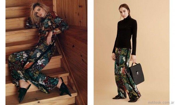 pantalon palazzo estampado Rie invierno 2017