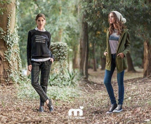pantalon recto cuadrille Mistral mujer invierno 2017