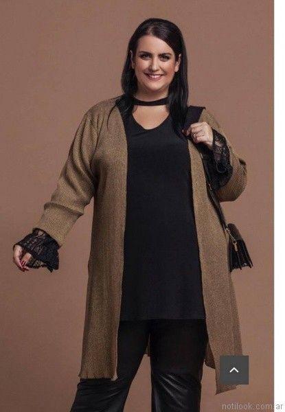 pantalones engomados Loren talles grandes otoño invierno 2017