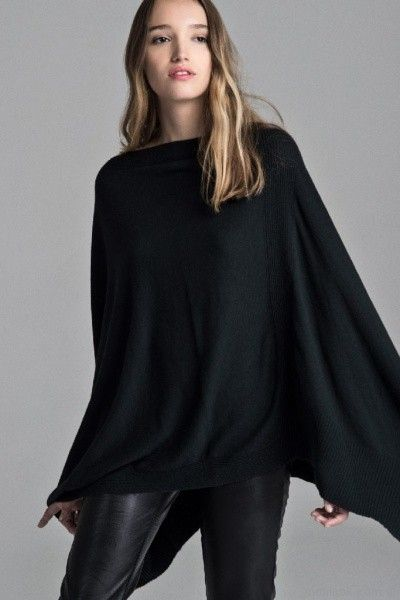 poncho de hilo y calza engomada Giesso mujer otoño invierno 2017