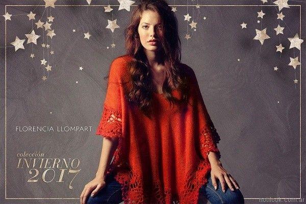 poncho tejido FLORENCIA LLOMPART tejidos mujer Invierno 2017