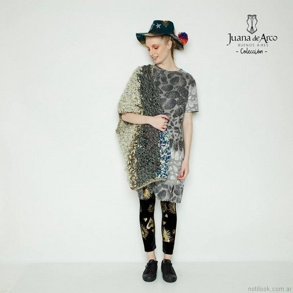 ponchos con mangas Juana de arco invierno 2017