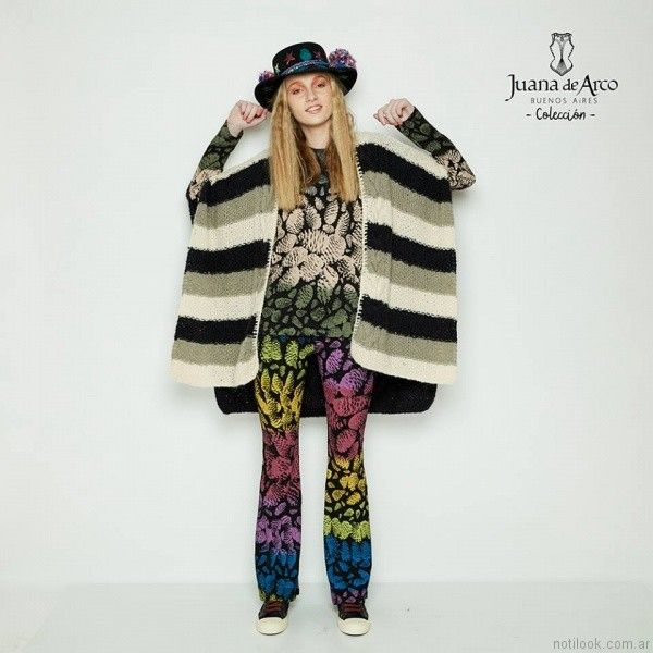ponchos tejidos mujer Juana de arco invierno 2017