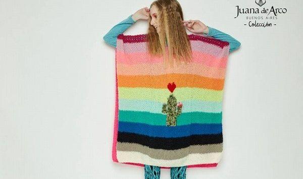 ponchos tejidos para mujer Juana de arco invierno 2017