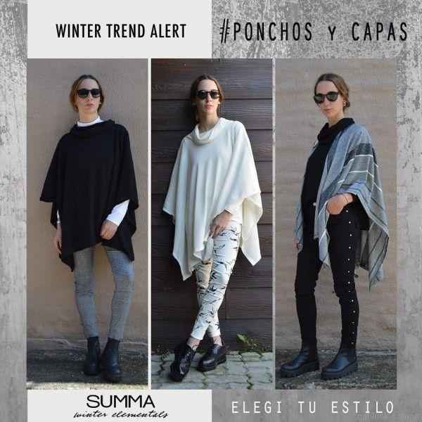 ponchos y capas Summa invierno 2017