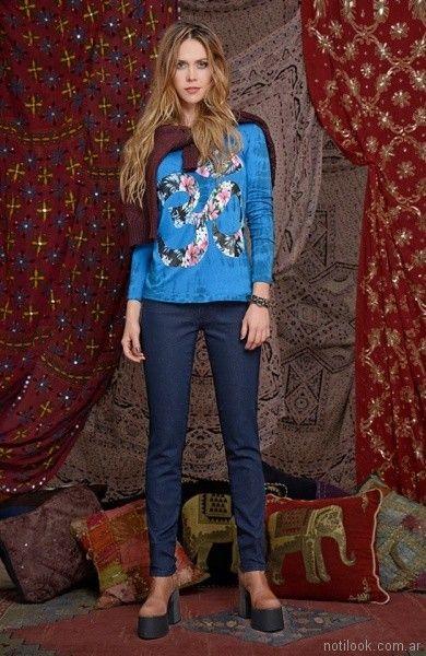 remeras mangas largas mujer Mov Jeans invierno 2017