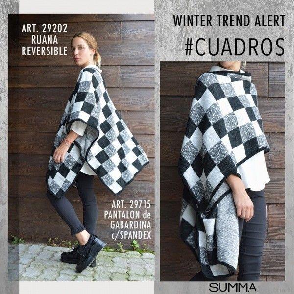 ruana a cuadros Summa invierno 2017