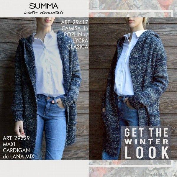 saco tejido en lana Summa invierno 2017