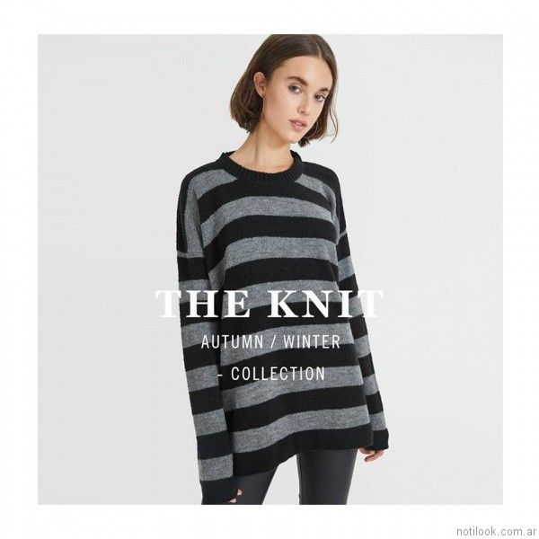 sweater a rayas tejido Bled otoño invierno 2017