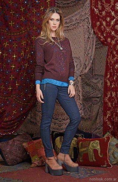sweater calado Mov Jeans invierno 2017