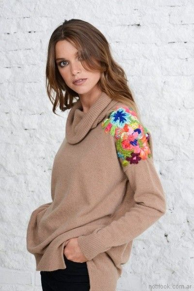 sweater de lana bordado Doll Store invierno 2017