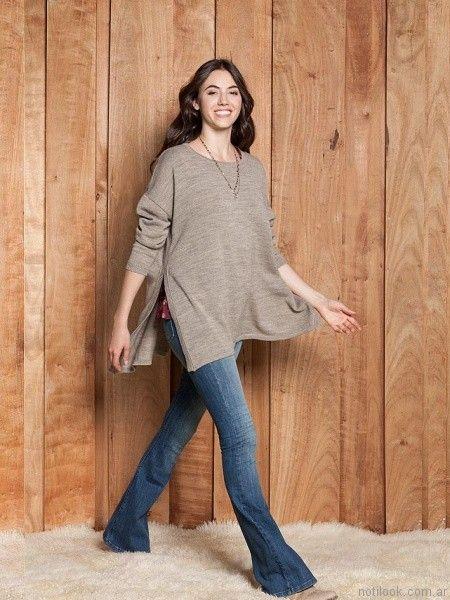sweater largo mujer Sail otoño invierno 2017