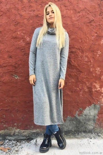 sweater vestido tejido largo Dorcastar otoño invierno 2017