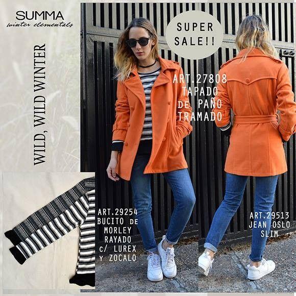 tapado trench naranja Summa invierno 2017