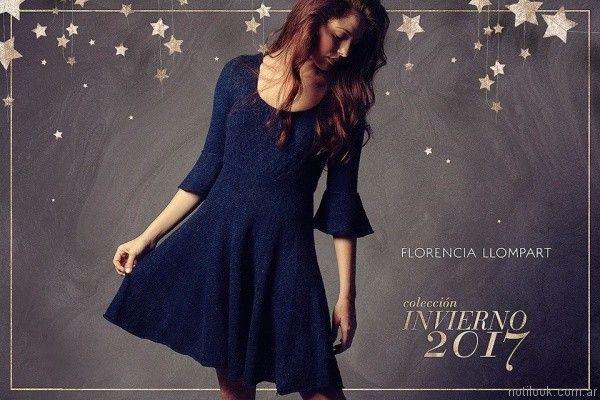 vestido corto tejido FLORENCIA LLOMPART tejidos mujer Invierno 2017