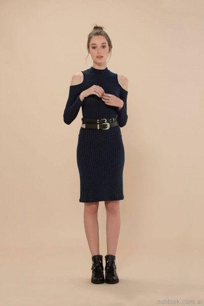 vestido corto tejido inversa otoño invierno 2017